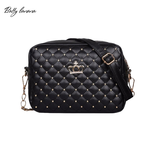 239bc1438e6 US $4.64 7% OFF BATTY BANANA Woman Side Bags Small for Ladies Chain Bag PU  Leather Black Crossbody Women Handbags Solid Female Bag -in Shoulder Bags  ...