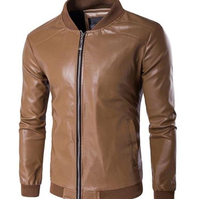 Yifsion hommes veste en cuir PU Slim Fit moto manteau Outwear Biker veste H2