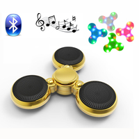 Fidget Spinner Toys LED Music Mini Wireless Portable Bluetooth Speaker Finger Luminous Hand Spinner Spiner Toys