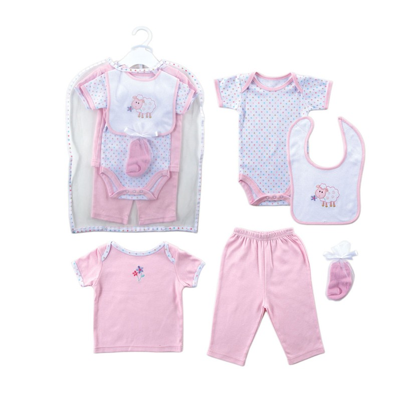 Retail 2016 Summer Style Infant Clothes Baby Clothing Sets Boy Girl Cotton Short Sleeve 2pcs Baby Boy Clothes Baby Rompers 0-6 M (3)