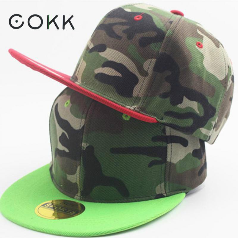 Prix pour COKK Camouflage Casquette de baseball Snapback Chapeaux Pour Hommes Femmes Unisexe Casquette Plate Avec Droite Visière Camo Armée Fans Réglable Casual