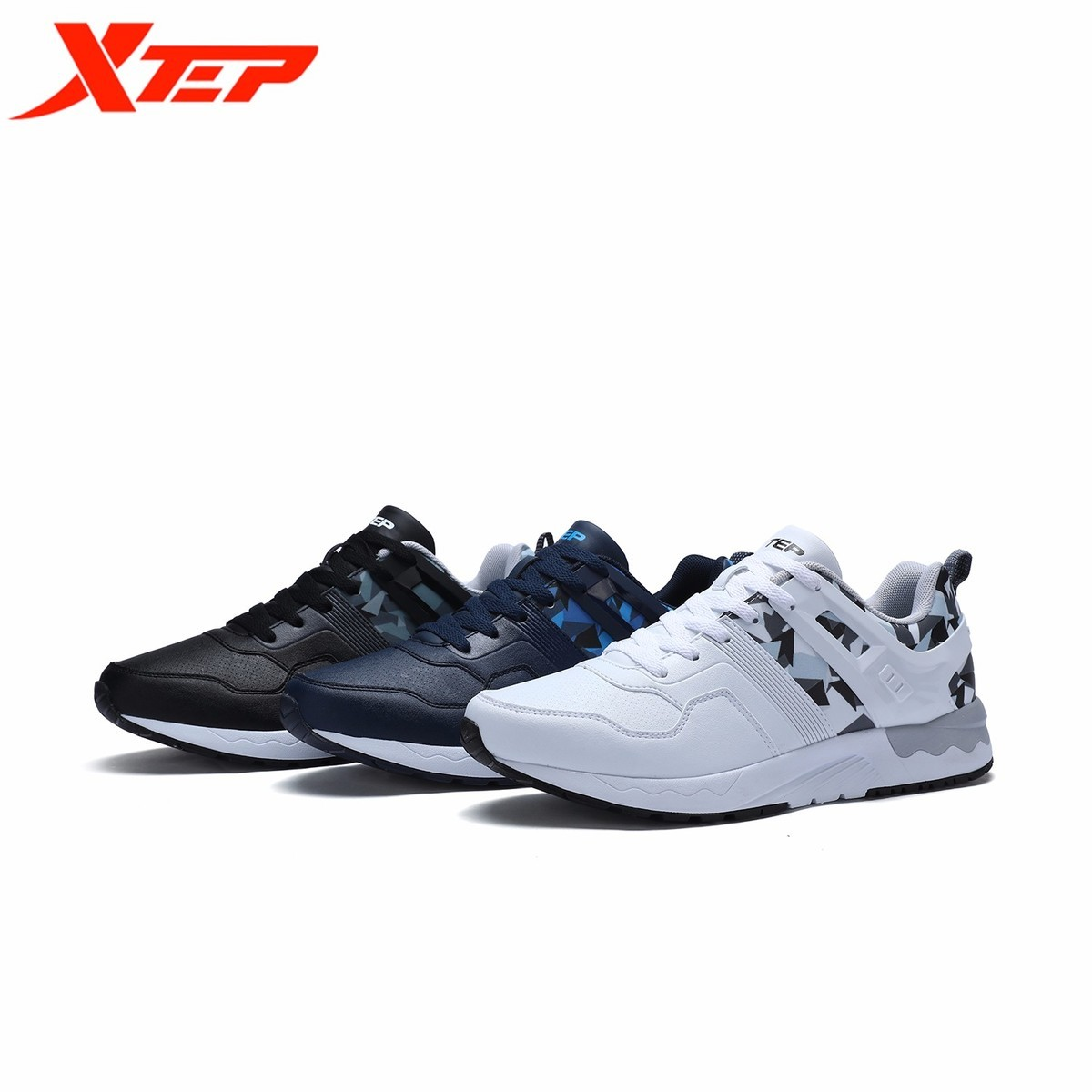 XTEP 2017 Men's Cool Camouflage Low Upper Flat Sports Skateboarding Skateboard Sneakers Shoes Free Shipping Classic Comfortable