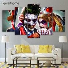 HD Отпечатано Джокер Харли и Куинн Рисунок Живопись Художественный Печати Wall Art Living Room Decor Плакат Холст Бесплатная Доставка XA1186B
