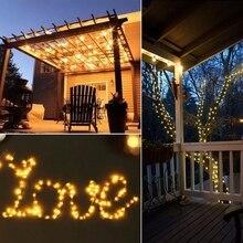 цена на Home Garden Copper Wire Light 20M 200 LED Solar Strip Light String Fairy Outdoor Solar Powered Christmas Party Decor Y