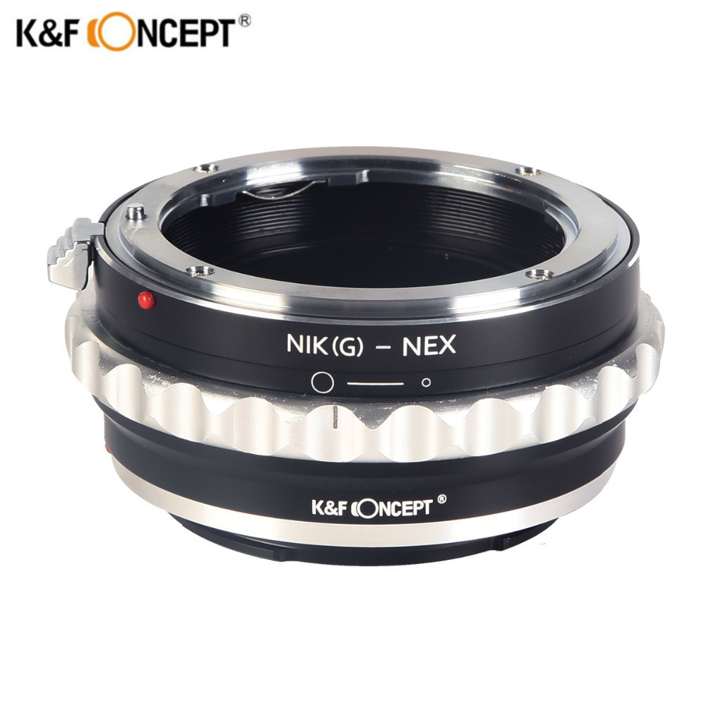 K&F CONCEPT Lens Mount Adapter with Aperture Dial for Nikon G DX F AI S D type Lens to Sony E-Mount NEX Camera Nikon G -NEX