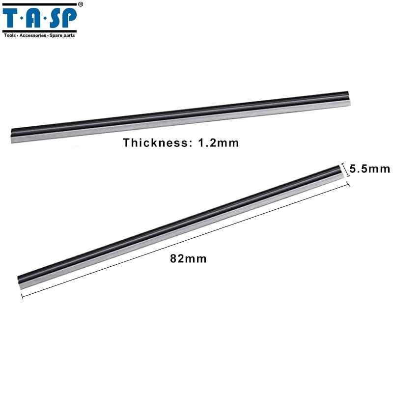 TASP 5 pares 82mm hoja de cepilladora de madera HSS reversible - Piezas para maquinas de carpinteria - foto 2