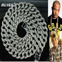 Hip Hop Bling Iced Out 30 Simulated Diamond 15mm Cuban Link Chain Necklace Jewelry