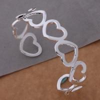 AB102 Free Shipping Wholesale silver Bangle 925 fashion silver plated jewelry All the love bracelet /aenaivua akzajcga