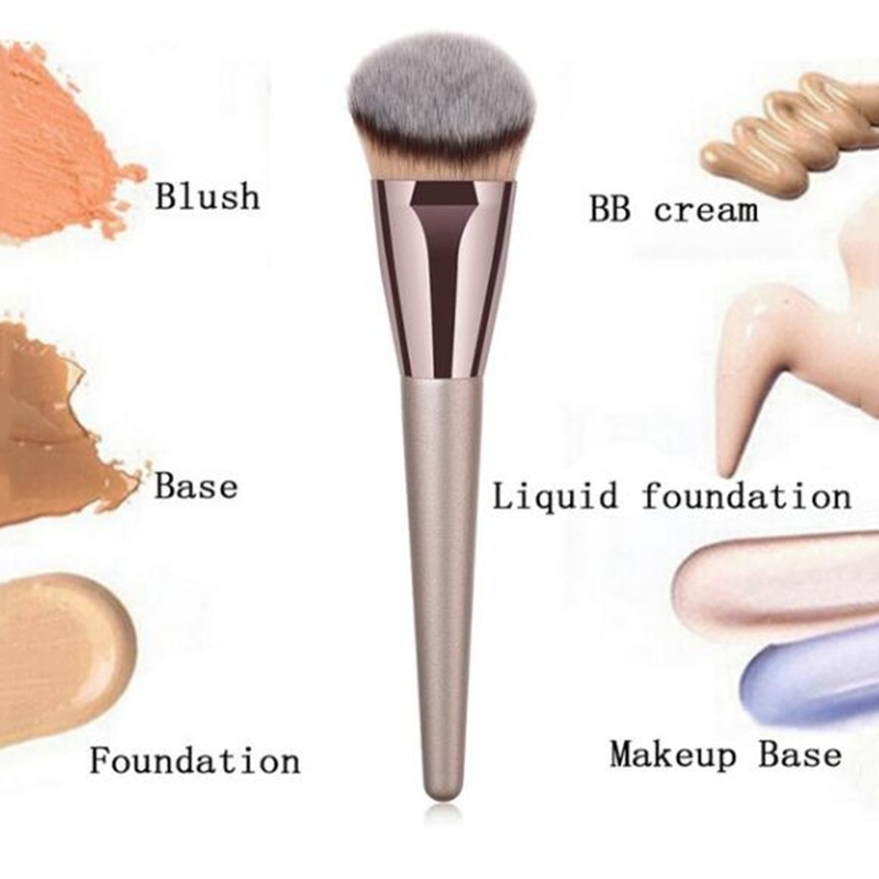 Image 3 - BBL 1 Piece Champagne Gold Precision Liquid Foundation Brush Perfect Pro Tapered Buffing Sculpting Angled Makeup Brushes Tools-in Eye Shadow Applicator from Beauty & Health
