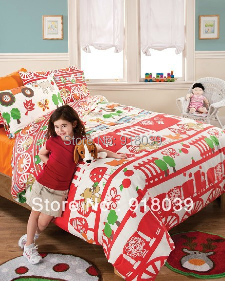 Brands Bedding Christmas Comforters Cover 100%cotton Child Bed Sheet Set  Bedding 4 Pcs Bedding