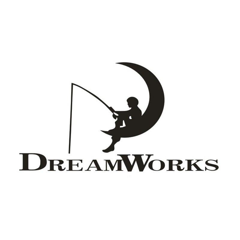 Dream works moon fishing Car Window Truck SUV Bumper Auto Door Motorcycle Tool Box Notebook Laptop Sticker Funny Vinyl Decal