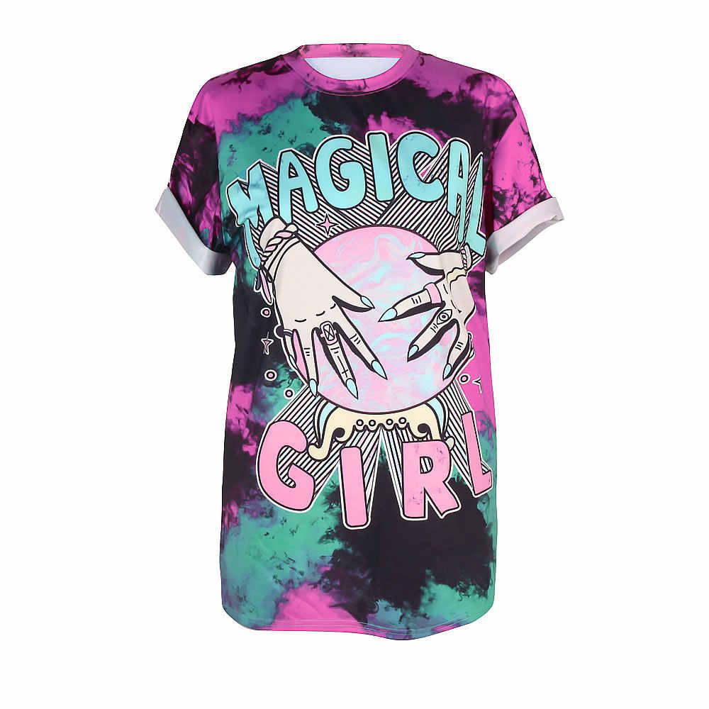 Novo verão punk skull ouija estrangeiro ufo tie dye 3d impresso unisex manga curta solta camisa masculina t tops colete camiseta