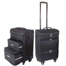 7080f3aa8 LeTrend 20 pulgadas multifunción caso cosmético equipaje rodante Spinner  mujeres profesional maleta de ruedas Oxford carro de he.