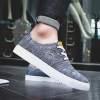 QWEDF 2019 Men's Shoes Summer New Mesh Shoes Breathable Comfort Lightweight Men's Vulcanized Shoes chaussure homme X5-38