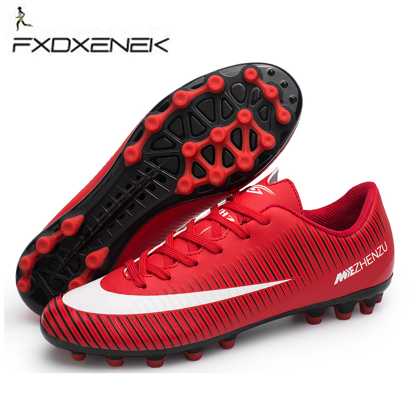 f0c36b59d FXDXENEK Professional Men Turf Indoor Soccer Shoes Cleats Kid Original  Superfly futsal Football Boots Sneakers chaussure de foot