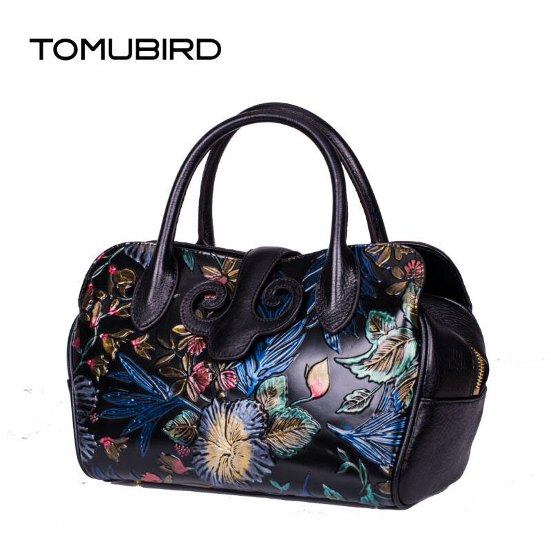 TOMUBIRD 2017 new superior leather designer bag famous brand chinese style women bags embossed genuine leather handbags tomubird 2017 new superior leather retro embossed designer famous brand women bag genuine leather tote handbags shoulder bag