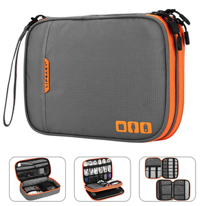 Portable Electronic Accessories Travel case,Cable Organizer Bag Gadget Carry Bag for iPad,Cables,Power,USB Flash Drive, Charger(China)