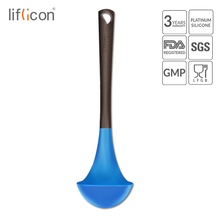 liflicon Silicone Soup Ladle High Heat Resistant Anti-hot Ladles Non-stick Kitchen Cooking Tools Non Hurt to Pans and Pots