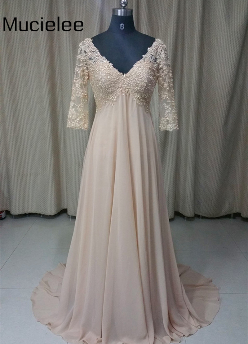 Aliexpresscom  Buy Champagne Long Dress Chiffon Maternity Evening Dresses Pregnant Lace Pearl