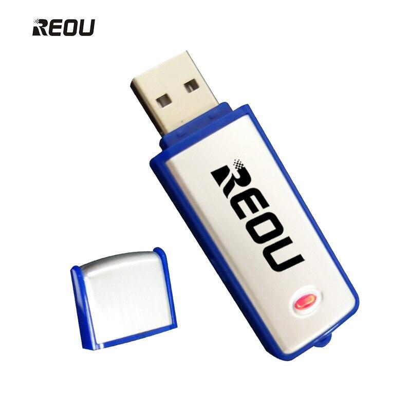 2018 REOU Professionale 8 gb Digital Voice Recorder Pen USB di Ricarica Disk Meeting Registrazione Penna Blu 16 gb Una Chiave penna di registrazione