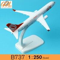Brazil GOL Airlines Boeing 737 16cm Decoration Airplane Models Child Birthday Gift Plane Model W Stand