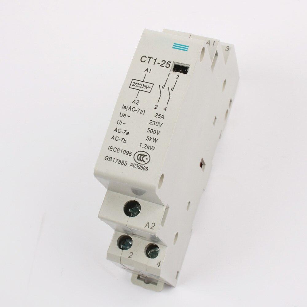 auxiliar de partida KOHTAKTOP CT1 CT1-25 25A 2P 230v 50 or 60HZ Din rail Household AC Contactor