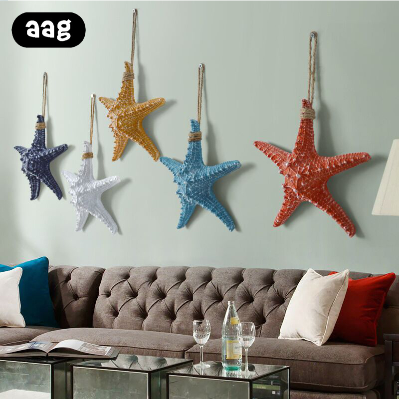 13*13cm Creative Colorful Starfishe DIY Artificial Natural Finger Sea Star Wedding Home Bar Wall Decorative Crafts