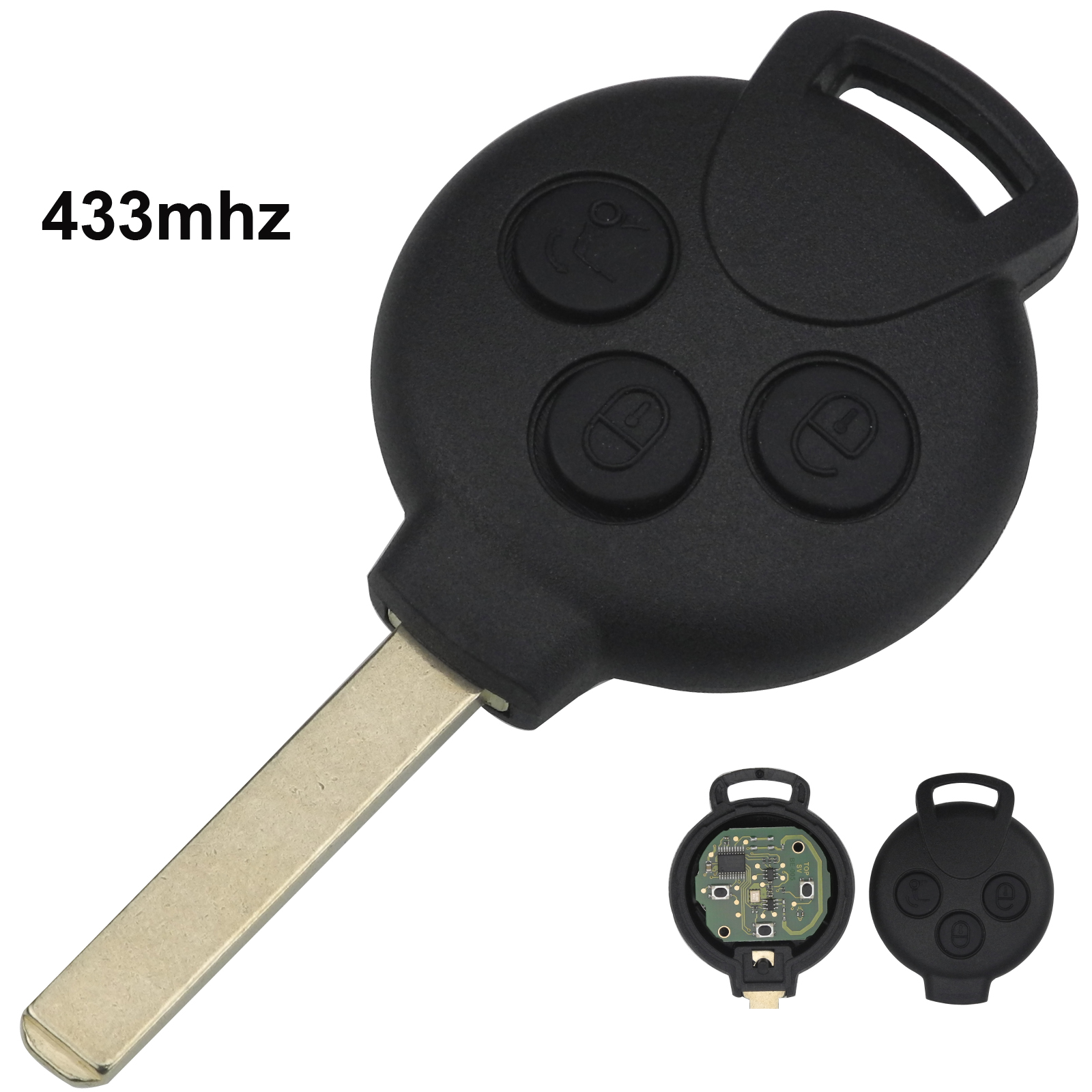 Jingyuqin 3 Buttons Smart Remote Key Keyless Entry FOB for MERCEDES BENZ 434MHZ Car Styling
