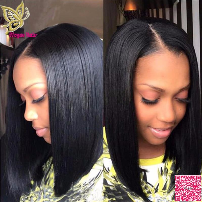 Long Bob Human Hair U Part Wigs Virgin Brazilian UPart Human