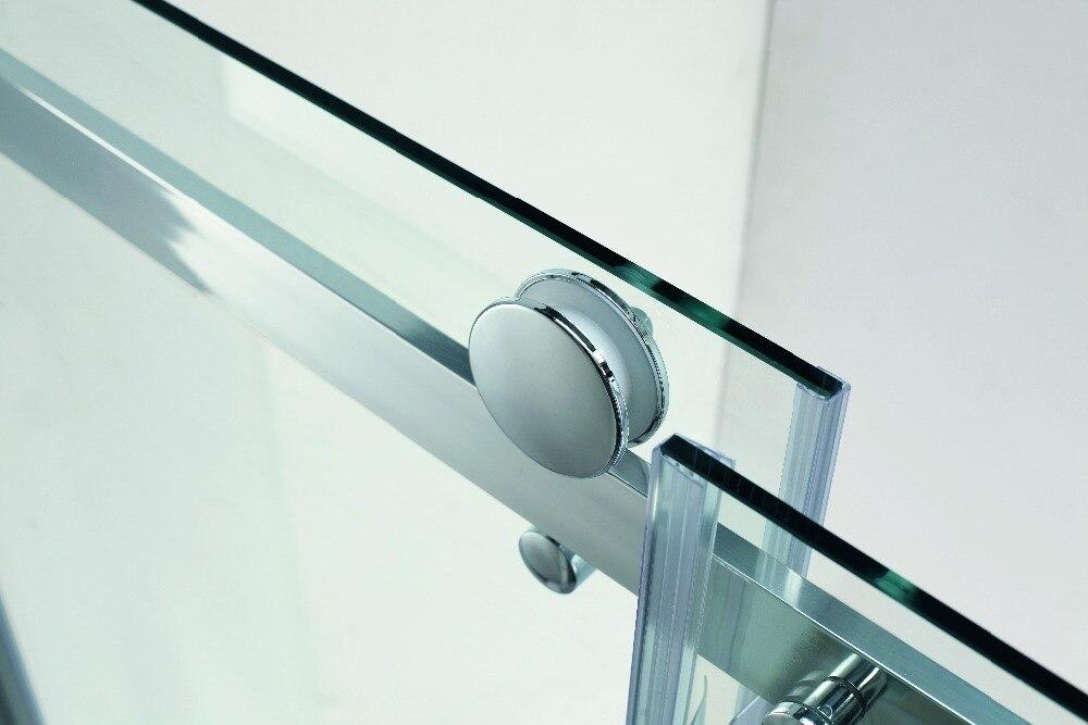 900x900x1950mm Quadrant Arc Sliding Shower Room Door Roller Glass