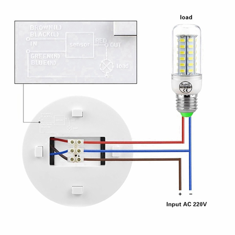Light Switch Motion Sensor PIR Motion Light 360 Degree Portable PIR Motion Sensor Adjustable Office