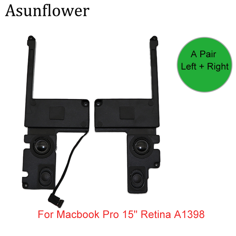 Asunflower 609-0335-A 609-0389 Left & Right Speaker Subwoofer For Macbook Pro 15 Retina A1398 2012 2013 2014 2015