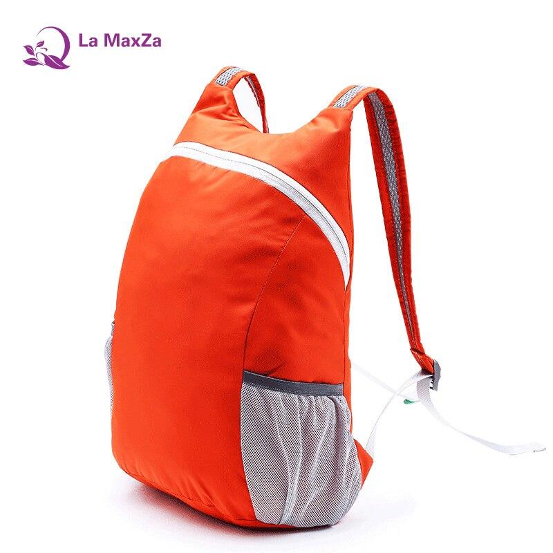 d6637ccf67e2a La maxza hombres y mujeres viaje ultraligera bolsa de piel plegable suave  lindo escuela mochila impermeable mochila portátil