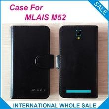 Горячая! M52 Case MLAIS Телефон, 2017 Высокое Качество Оригинала Флип Кожаный Exclusive Case для MLAIS M52 Обложка Сумка для Отслеживания