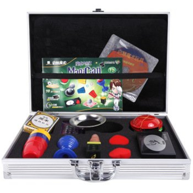 Tour de magie jouets pour enfants cadeau 10 accessoires de type avec valise de magicien fermer rue enfants partie spectacle scène comédie - 2