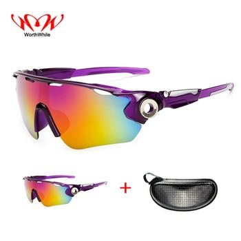 33816371b8 Vale la pena deportes bicicleta gafas polarizadas ciclismo gafas de sol  UV400 hombres mujeres al aire libre MTB bicicleta de pesca gafas sombrilla  gafas