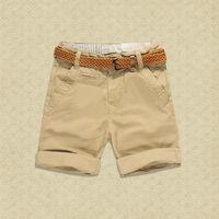 Trai Shorts Cotton Khaki Đỏ Đen Quần Vành Đai Nâu Thương Hiệu Toddler Trai Quần Short cho 2 3 4 5 6 7 8 9 10 Năm Trẻ Em Quần Áo quần short