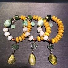 Модные Серебряные украшения руды натуральный пчелиный воск цвет золотистый Серебряный браслет для Женская обувь