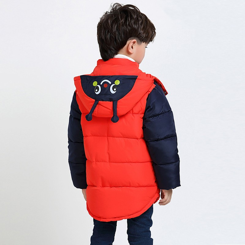 a94ce0100 2018 Baby Boys Jacket Winter Jackets For Boys Bees Hooded Down ...