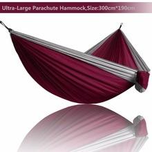 2019 Ultra Grande peso Leve Parachute Hammock Camping Survival Caça Jardim Lazer Hamac Viagem Duplo Pessoa Hamak Ramac