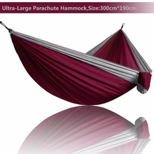 Hamaca de paracaídas ultraligera para acampar, supervivencia, jardín, caza, hamaca de ocio, viaje, persona doble, hamaca Ramac, 2019
