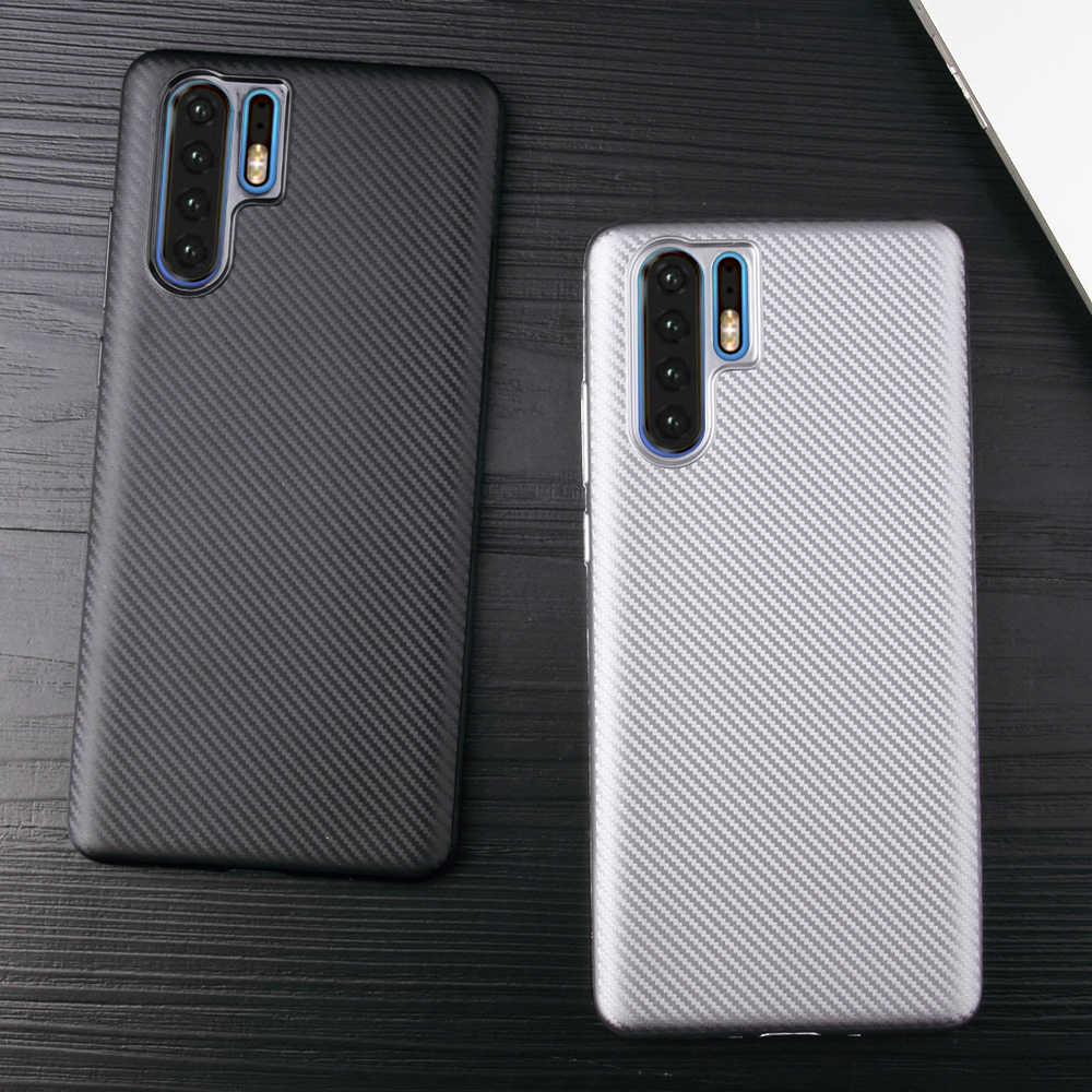 Carbon Fiber TPU Case For Huawei P30 Pro Ultra Thin Slim Silicone Case On For Huawei P 30 Pro Back Cover Matte Phone Cases
