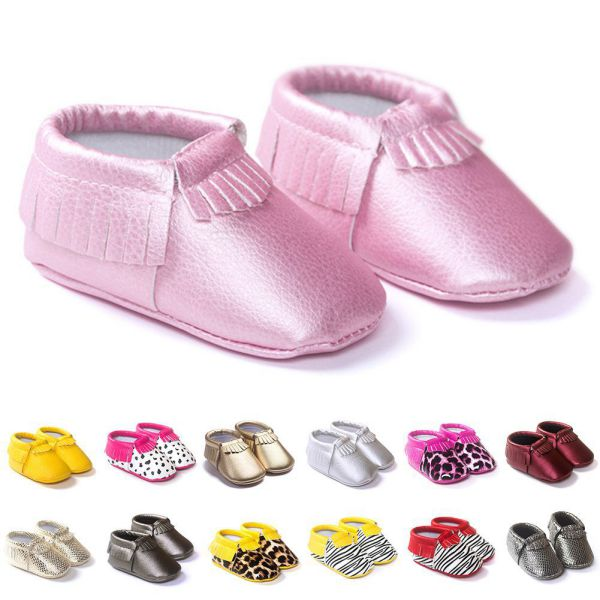 Baby Girl First Walker Princess Toddler Infant Soft Sole PU Leather Shoes Tassels Baby Various Bebe Moccasin 0-18M