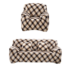 Grid Cloth Art  Sofa Cover Spandex Stretch Printed Slipcover Home Textile All season