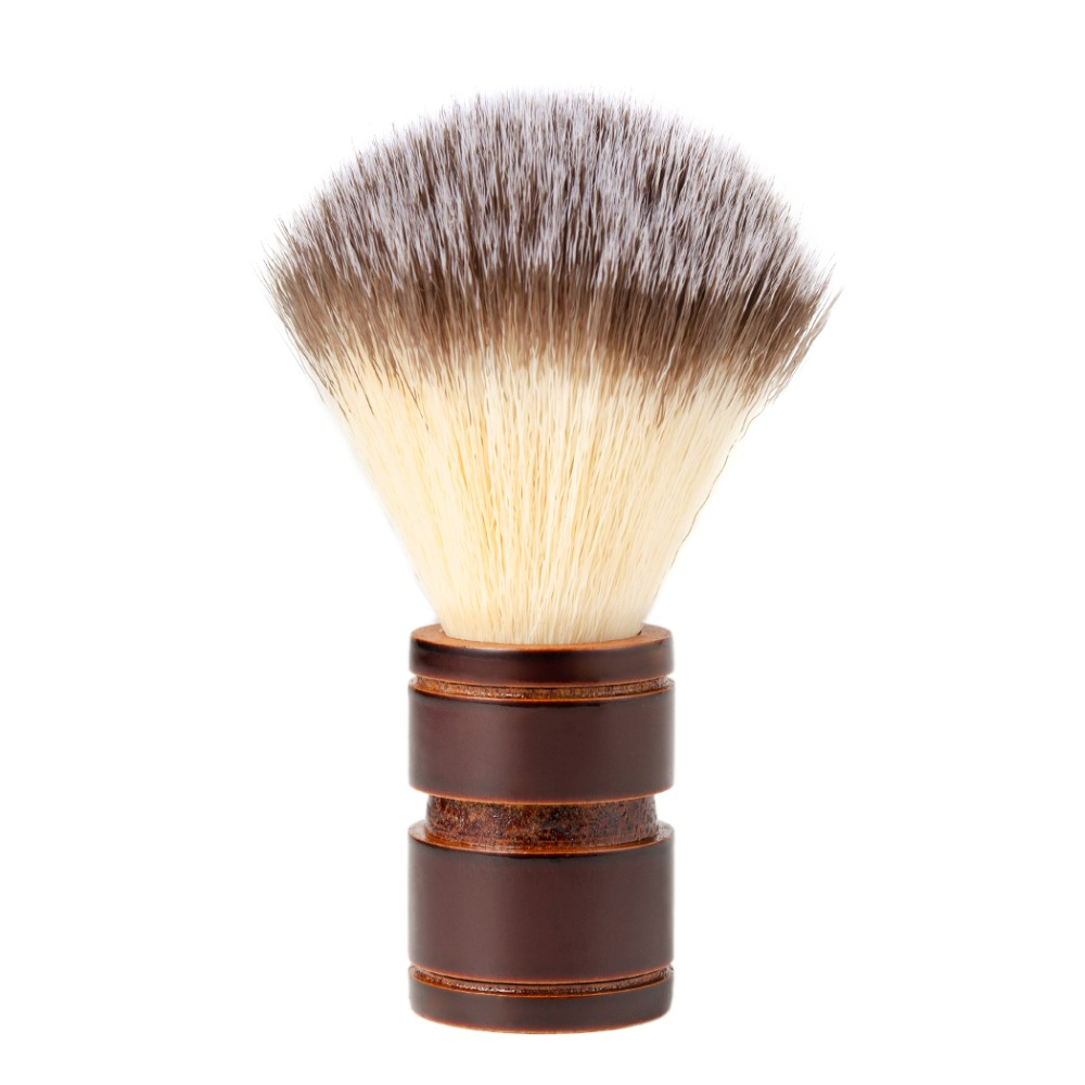 Grandslam Men's Shaving Brush Wood Handle Synthetic Hair Professional Salon Tool  For Shaving Straight Razor Safety Shaver