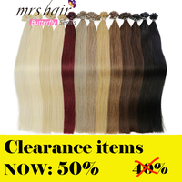 MRS HAIR 1g/pc 14 16 20 24 Fusion Hair Extensions Straight Machine Made Remy Nail Hair Keratin Pre Bonded Human Hair 50pcs