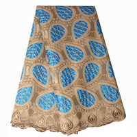 Ourwin African Swiss Voile Lace Brown Blue Cotton Lace Fabric Dark Geen Cream Royal Blue Nigeria Lace Fabric 2018