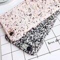 Lyball simples granito mármore grão telefone padrão rígido case capa para iphone 6 6 s plus 7 7 além do preto rosa
