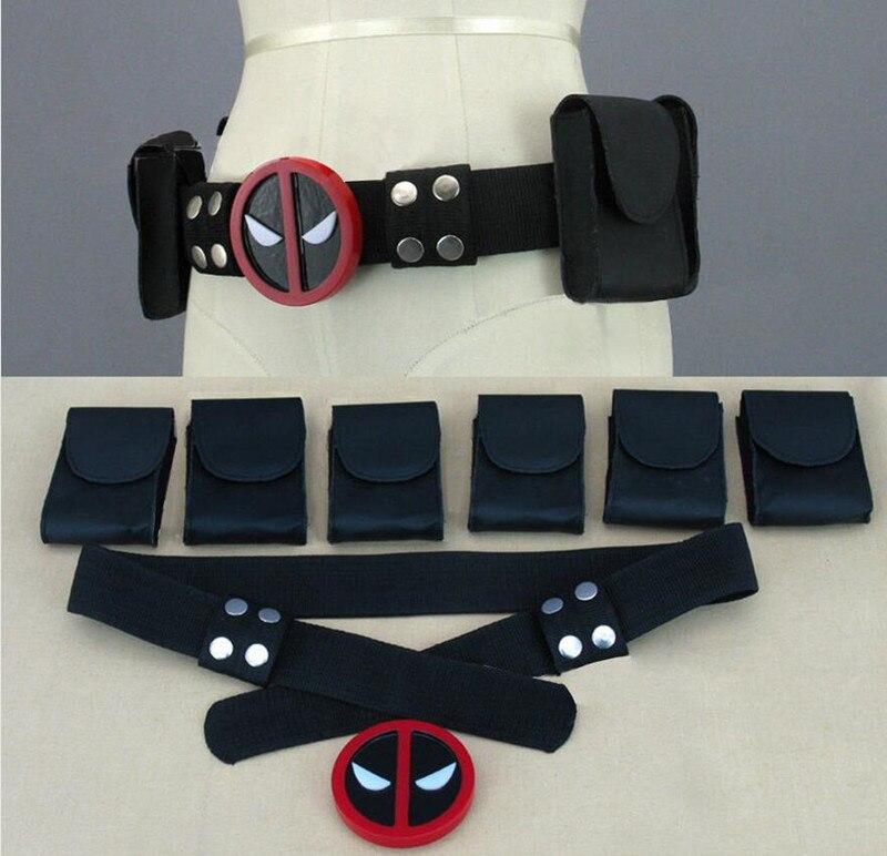 Aufstrebend Hohe Qualität Super Hero Deadpool Gürtel Mit 6 Beutel Bund Wade T. Wilson Unisex Halloween Cosplay Zubehör