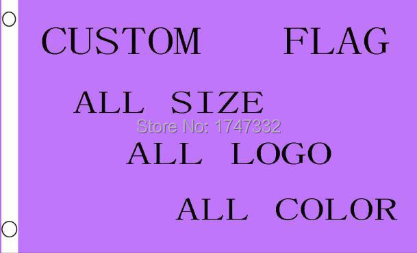 Custom Flag Any Size Company Reklaam Brand Logo Flag 3X5FT 150X90cm mis tahes logo mis tahes värvi Bänner messing metallist augud
